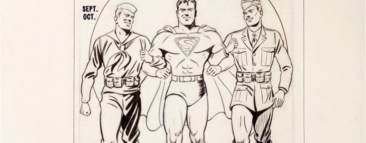 1941 Superman #12 Original Cover Art, Never Offered Before, Paces Powerhouse Comics Auction