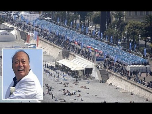 Chinese billionaire Li Jinyuan, organized a trip to France