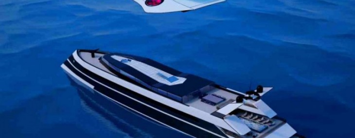 Monaco 2050 – Megayacht With Built-in Private Jet