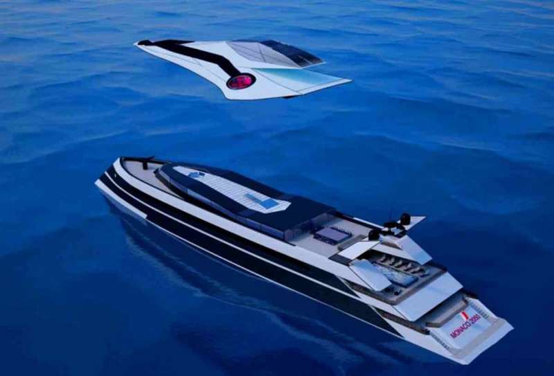 Monaco 2050 - Megayacht With Built-in Private Jet