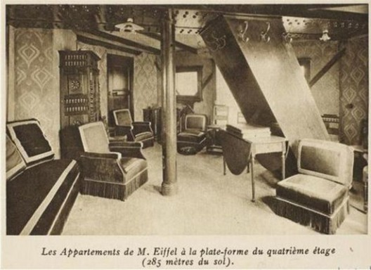 Secret Apartment at The Eiffel Tower Revealed To The Public