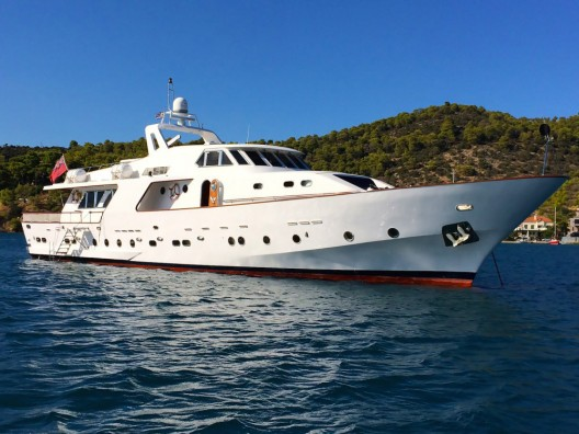 The refitted Elvis Superyacht