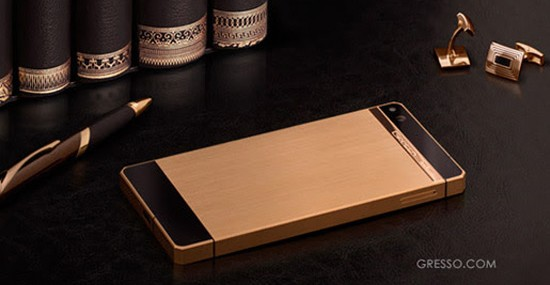 New Collection of Luxury Smartphone Gresso Regal Gold