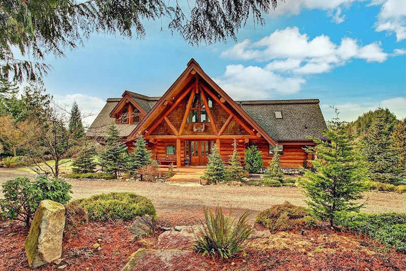 10-Acre Estate Complete with Log Residence Seeks $1.25-Million