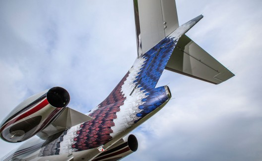 NetJets unveils Art Basel tail