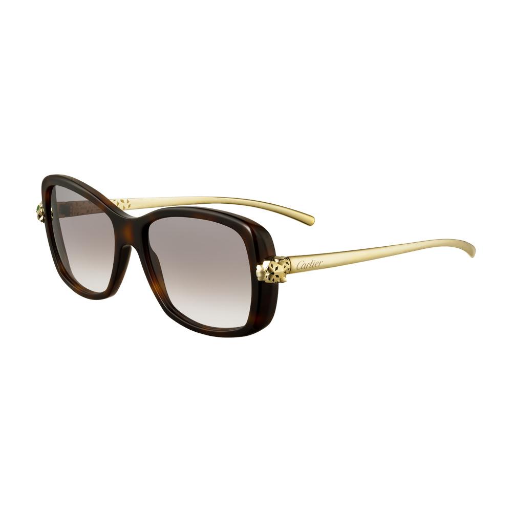 Cartier Black Pantheon Aviator Sunglasses   www.panaust.com.au