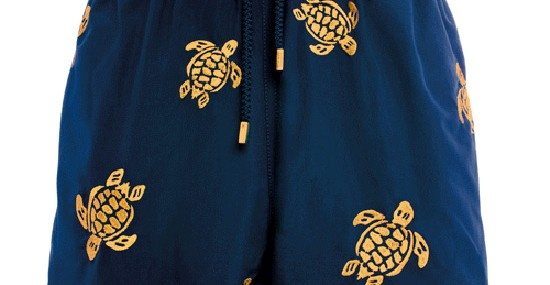 Vilebrequin's Golden Turtle Swim Trunks