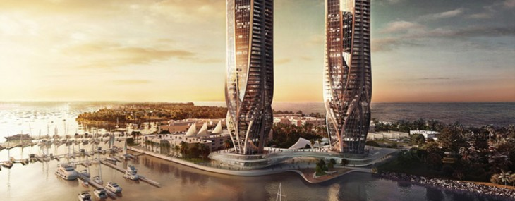 Zaha Hadid Two Sinuous Towers