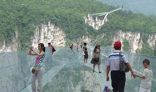 Zhangjiajie Skywalk Made Of Glass