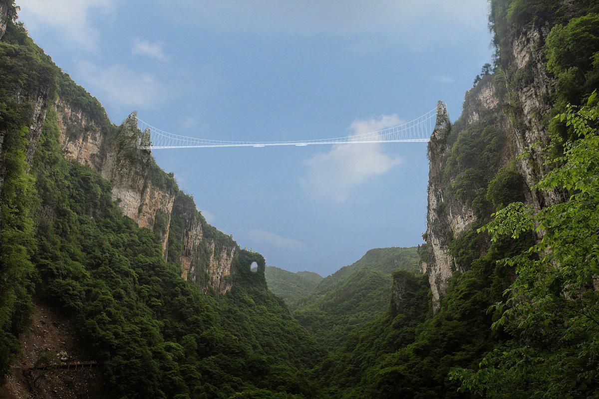 Zhangjiajie Skywalk Made Of Glass Set To Open In China