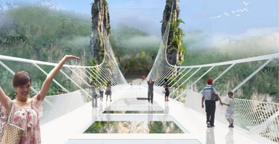 Zhangjiajie Skywalk Made Of Glass