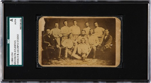 1860 Brooklyn Atlantics Baseball Card Ready for Auction
