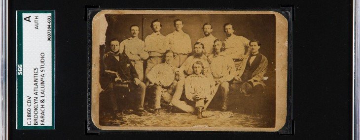 1860 Brooklyn Atlantics Baseball Card Ready for Auction