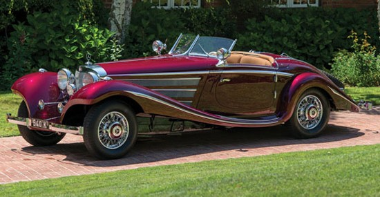 1938 Mercedes-Benz 540K Special Roadster by Nawrocki at Auctions America's California Sale