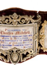Charley Mitchell's 1888 Boxing Belt at Heritage Auctions