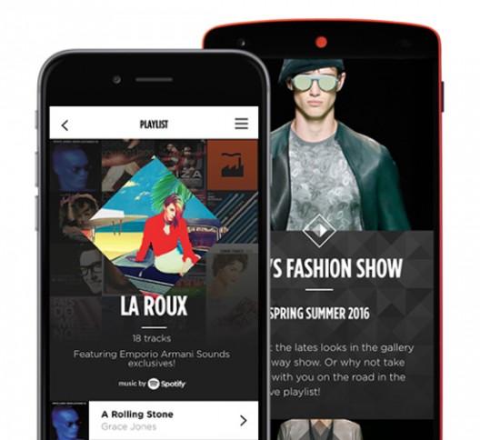 Emporio Armani Launches Music App