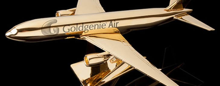 Take Flight In Goldgenie's New 24k Gold Embellished Model Airplanes