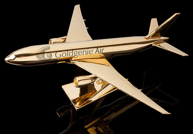 Take Flight In Goldgenieu0027s New 24k Gold Embellished Model Airplanes