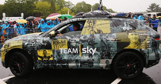 Jaguar Team Sky Tour de France New Color Scheme for F-Pace