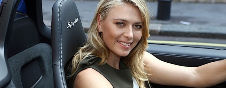 Maria Sharapova and Porsche Boxster Spyder