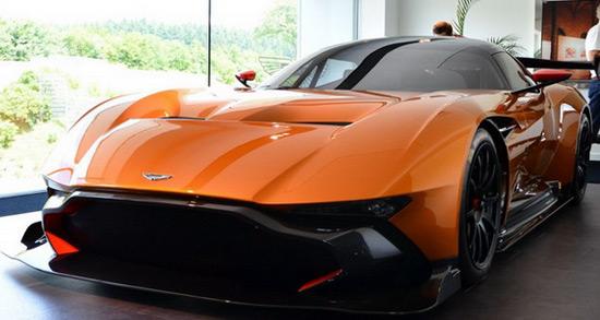 Orange Aston Martin Vulcan