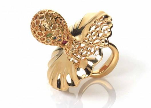 Precious Baby Gift - Pacifier Arabesque Gold