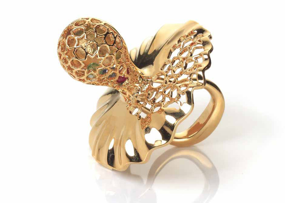 Precious Baby Gift - Pacifier Arabesque Gold