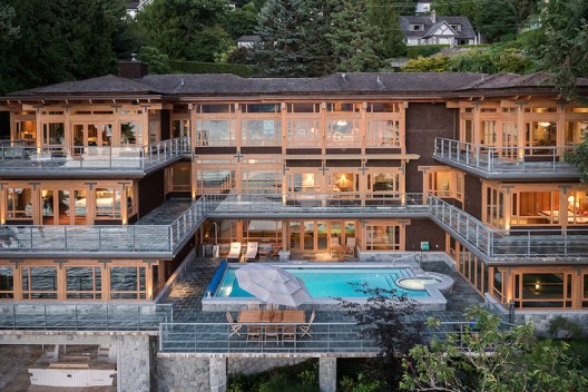 West Vancouver, B.C. Residence With Private Yacht Garage