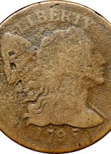 1795 Reeded Edge Large Cent At Auction For The First Time In 50 Years