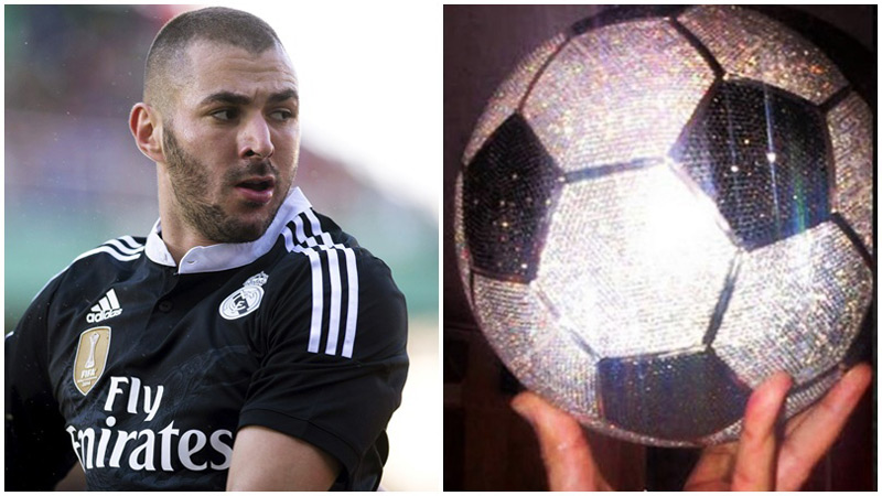 Karim Benzema Splashed Out $250,000 On Diamond-encrusted Football