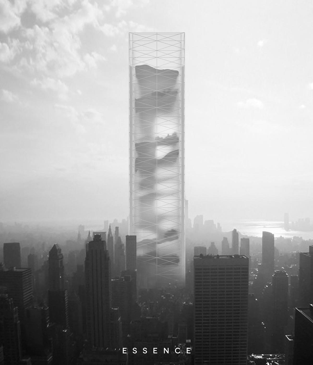 Essence Skyscraper - Urban Mega-Structure With 11 Landscapes