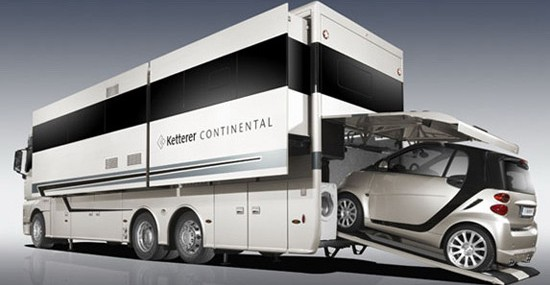 Ketterer Continental Motorhome Has Room For A Small Car