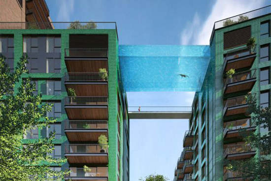 "World's First Glass Bottomed ""Sky Pool"" To Be Suspended Above London's Street"
