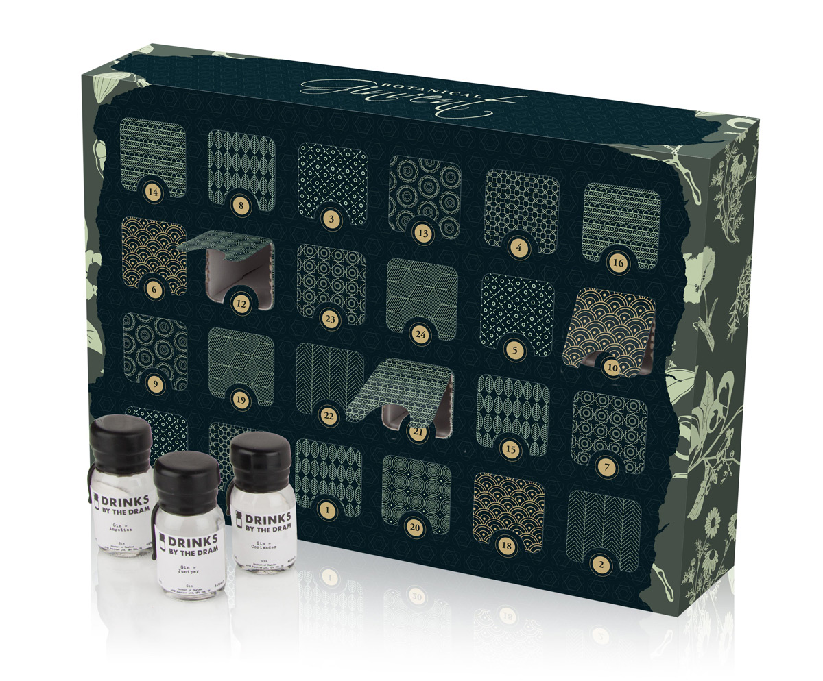 ginvent calendar gin filled advent calendar 2015 extravaganzi. Black Bedroom Furniture Sets. Home Design Ideas