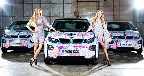 BMW i3 Model At London Fashion Week