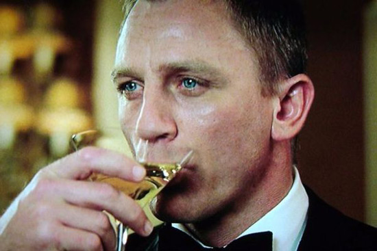 James Bond Enjoys Belvedere Vodka