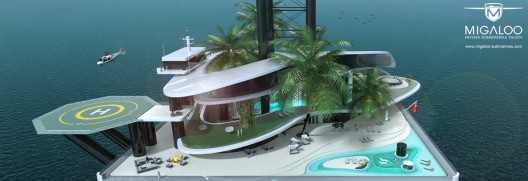 Kokomo Floating Island, Superyacht And Submarine Base