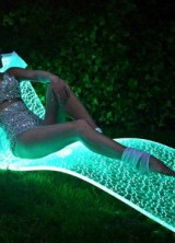 Floating On Light – LumiLuxe LED Lounge Chair by BeMoss