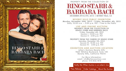 Memorabilia From The Collection Of Ringo Starr And Barbara Bach