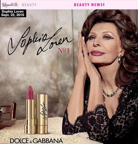 Sophia Loren - Inspired Lipstick By Dolce & Gabanna