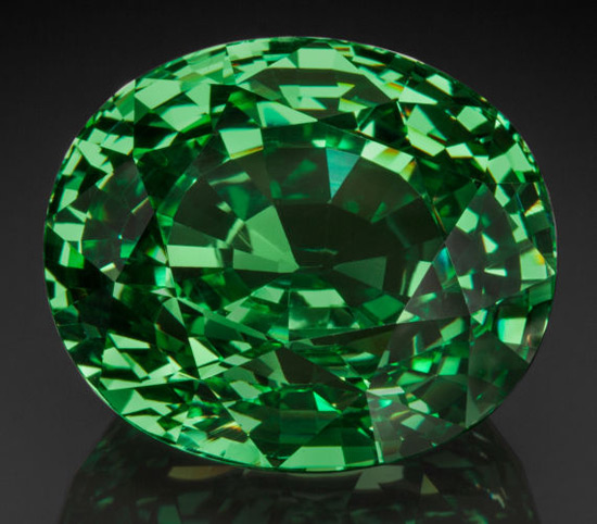 65.72 Carat Tsavorite Garnet, as large as a quail's egg, at Heritage Auctions