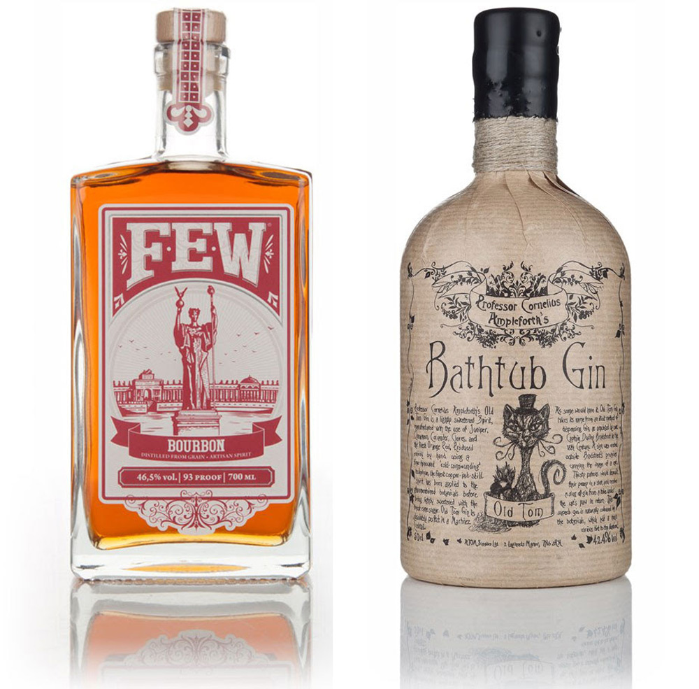 FEW Bourbon & Professor Cornelius Ampleforth Bathtub Gin - Old Tom Now Available At Marks & Spencer