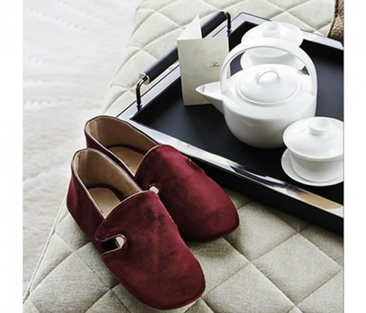 Beatrix Ong MBE Creates Limited Edition Slippers For Shangri-La hotel at the Shard, London