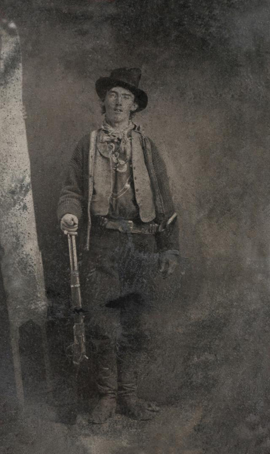Photo of Wild West outlaw Billy the Kid