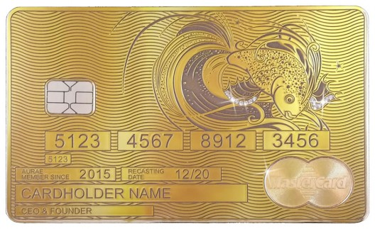 Aurae Launches World's First Bespoke Solid Gold MasterCard by Aurae