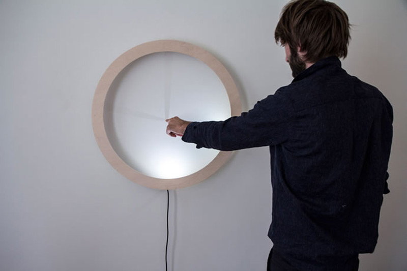 Unique Clock Tells Time With Shadows of Your Finger