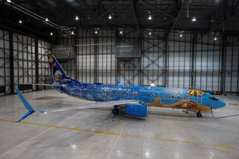 "Let It Go With WestJet's ""Frozen"" Themed Plane"