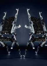 Chair Made of AK47 Kalashnikovs by Rainer Weber