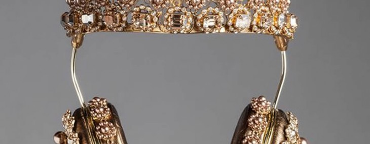 Dolce & Gabbana Headphones With Swarovski Crystals And Pearls