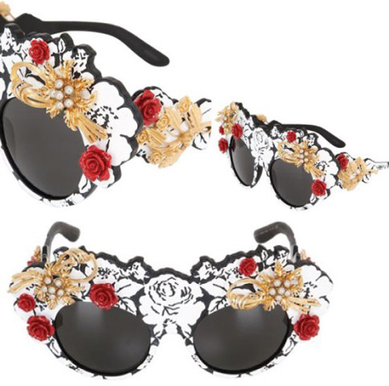 a8d1659ec7d Dolce   Gabbana Mama s Embellished Brocade Sunglasses - eXtravaganzi